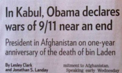 In Kabul, Obama declares wars of 9/11 near an end