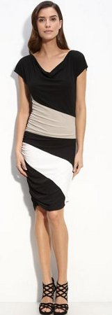 Color block Matte Dress