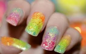 glittery colors on nails
