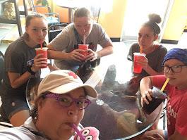 Bubble Tea House, Jasmine Milk Bubble Tea with Blueberry poppers, Providence RI, 2019
