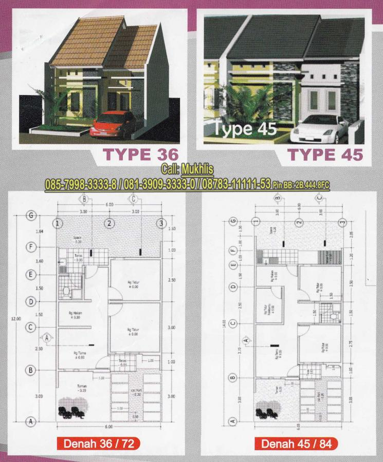 Denah Rumah Type 45 Kumpulan Foto Rumah