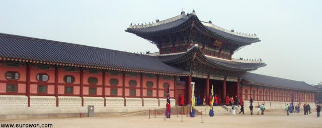 Palacio Gyeongbokgung de Seúl, en Corea del Sur