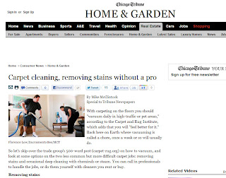 DIY Carpet Cleaning Advice From Chicago Tribune and CRI