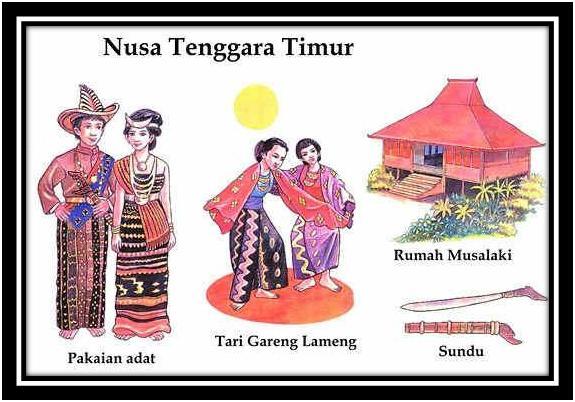 Download this Senjata Sundu Tarian Tari Gareng Lameng Rumah Adat Musalaki picture