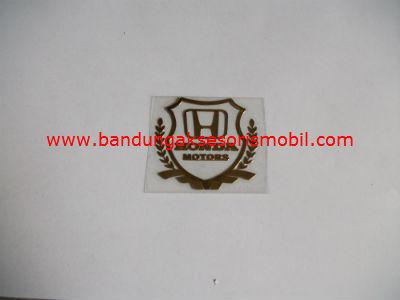 Emblem Alumunium Kotak Kecil Logo Mobil Honda