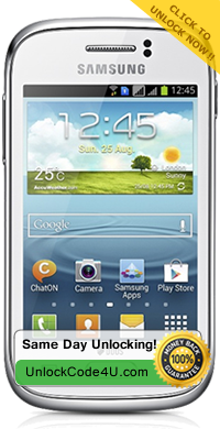 Factory Unlock Code for Samsung Galaxy Young S6310