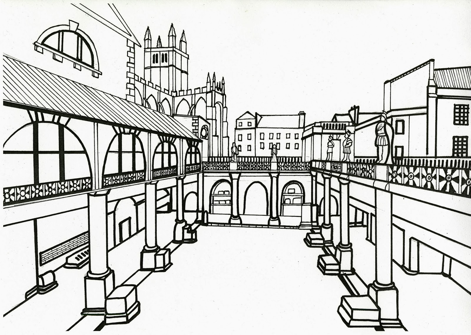 Beyond The Baths The Big Draw Coming Soon To The Roman Baths