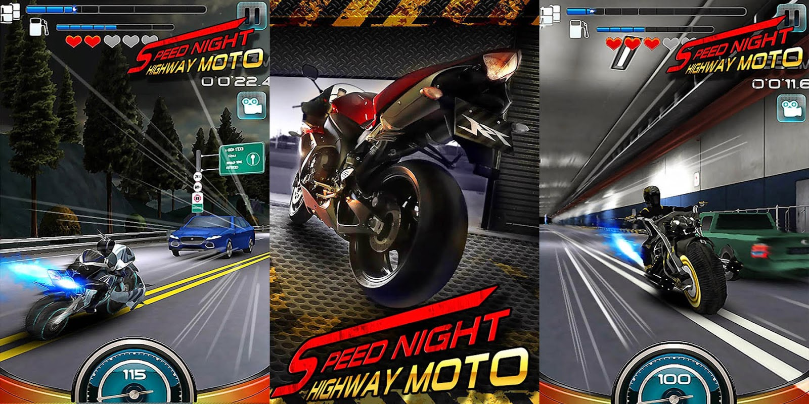 Speed Night Highway MOTO Gameplay Android