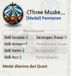 Medal 3 Hero Permanen