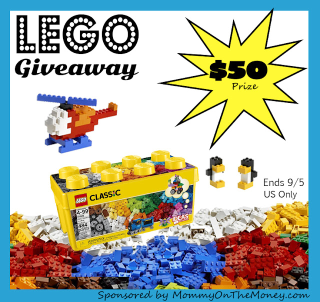 Enter the LEGO Giveaway. Ends 9/5.