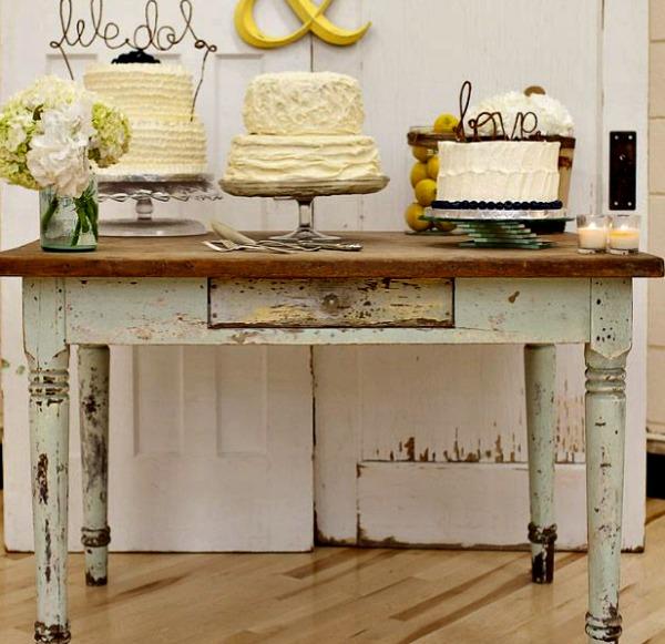 Mesa tocinera en la decoraci n vintage de tu hogar - Mesas antiguas de cocina ...