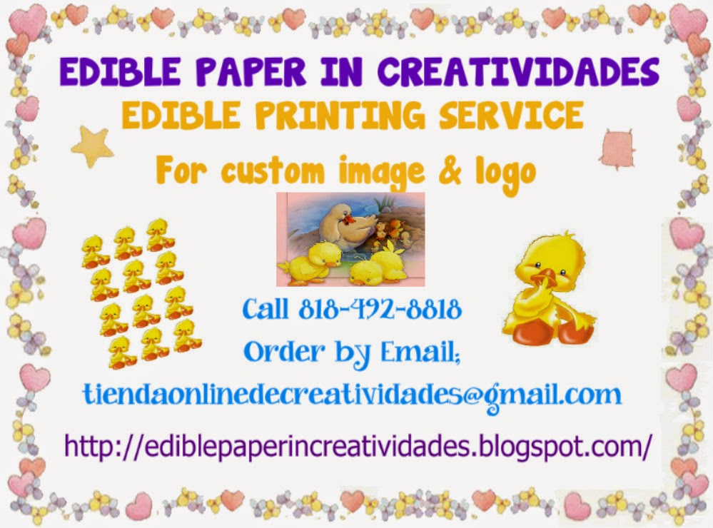 EDIBLE PAPER IN CREATIVIDADES