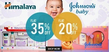 Get Flat 35% Off on Himalaya and Flat 20% on Johnson & Johnson Baby Care Products at Shopclues