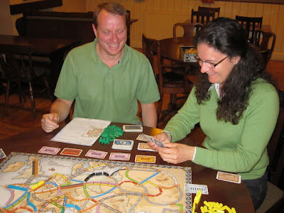 Ticket To Ride Europe - The green team!!