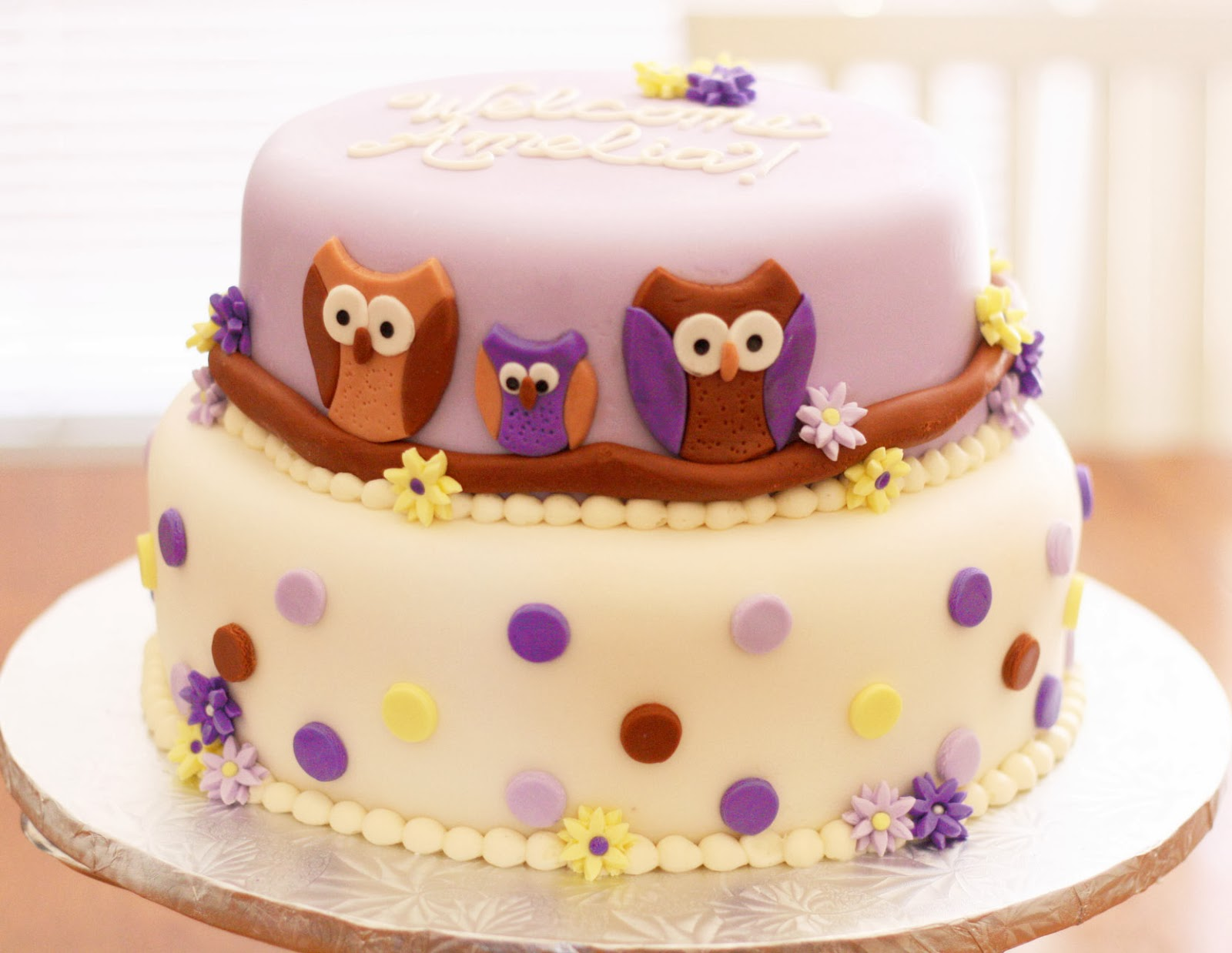 this owl cake was chocolate chocolate chip with cream cheese
