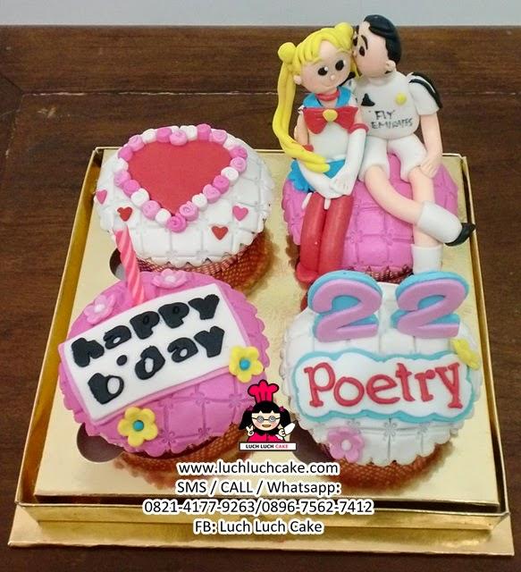 Cupcake Sailormoon Daerah Surabaya - Sidoarjo