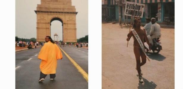 Indiano anda de costas por 25 anos