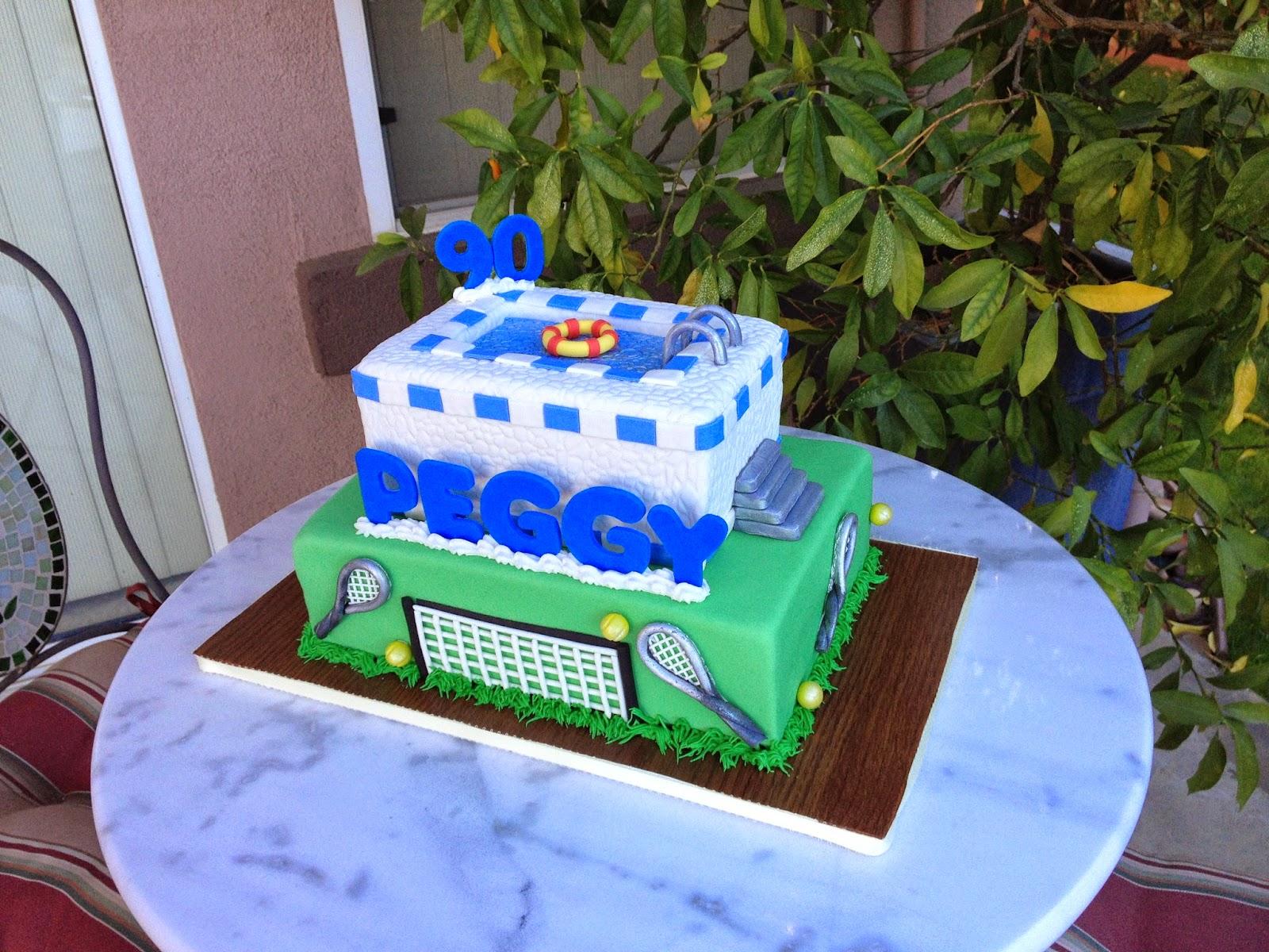 Sugar Chef PEGGYS 90TH BIRTHDAY CAKE