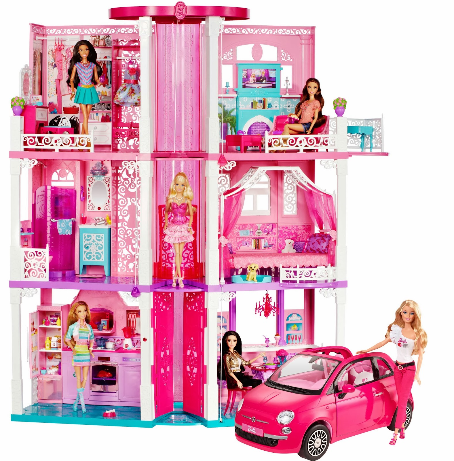 idee regalo vederli e 39 volerli la nuova casa dei sogni di barbie del 2013 il regalo giusto. Black Bedroom Furniture Sets. Home Design Ideas
