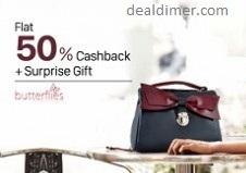 PayTm Offer - Butterflies Bags 50% Cashback