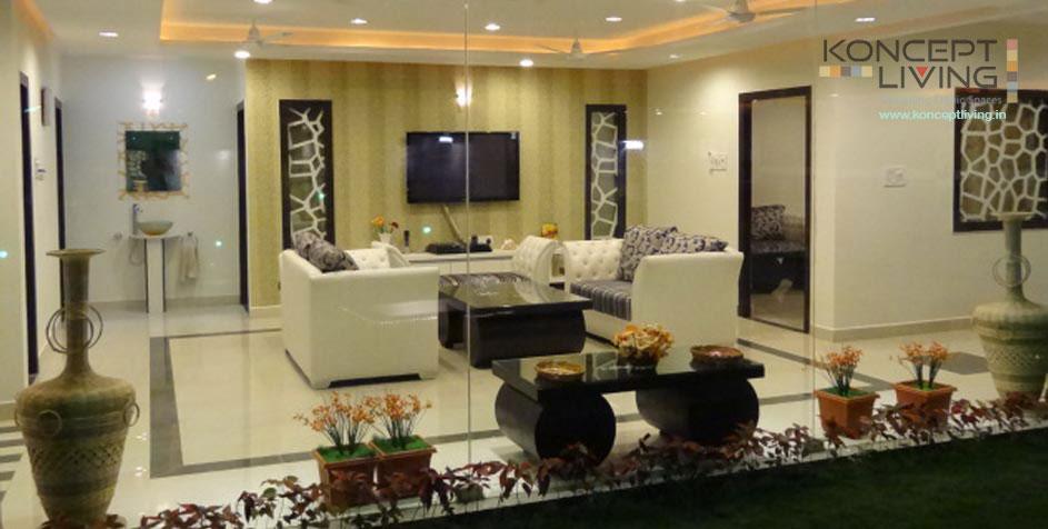 Villa Interior Designers in Hyderabad : Koncept Living Villa ...