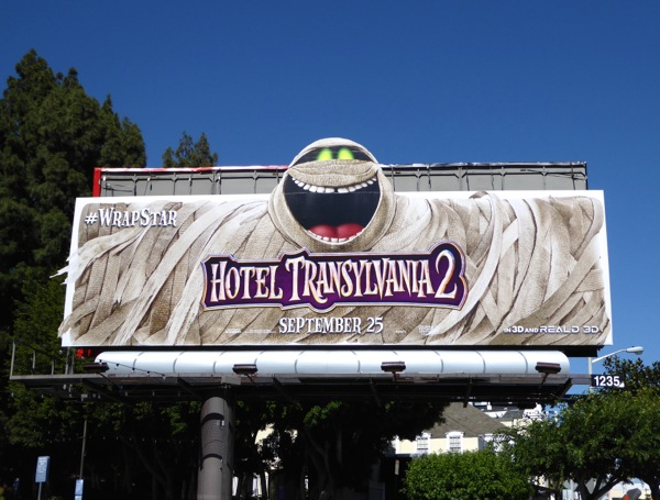 Murray the Mummy Hotel Transylvania 2 movie billboard