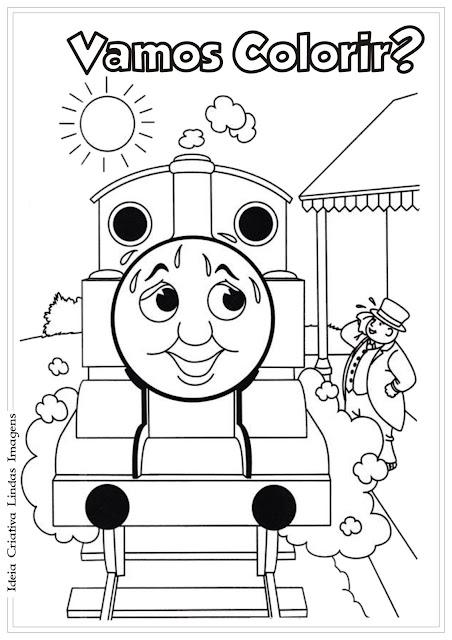 Desenho para colorir Thomas e seus amigos