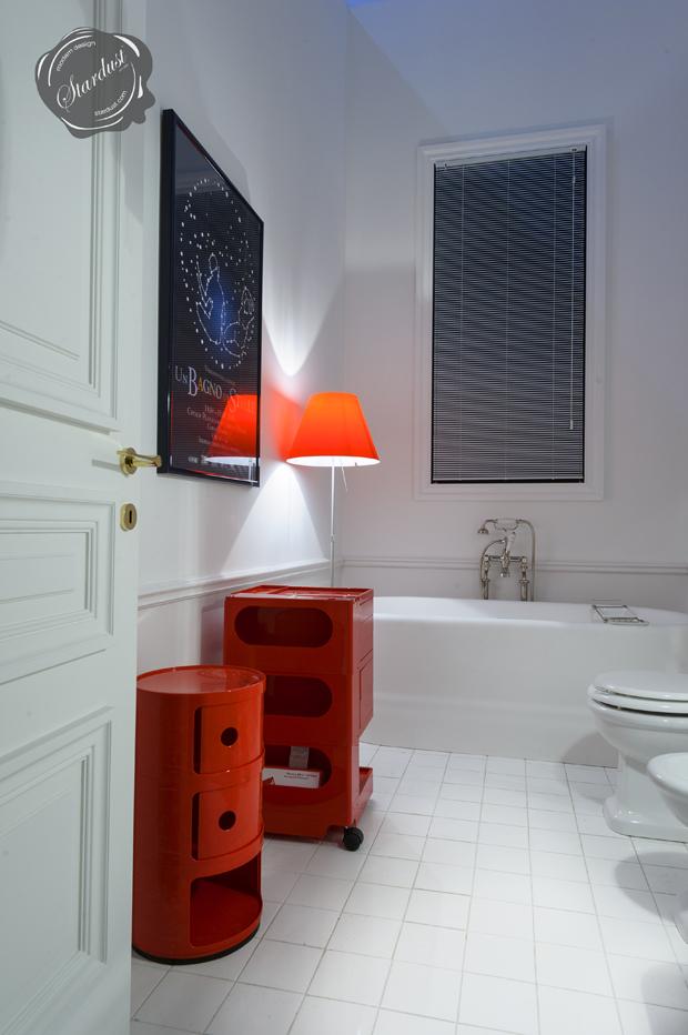 Modern Interior Design Red Bathroom Space Saver Cabinet With Wheels - Bathroom drawers on wheels for bathroom decor ideas