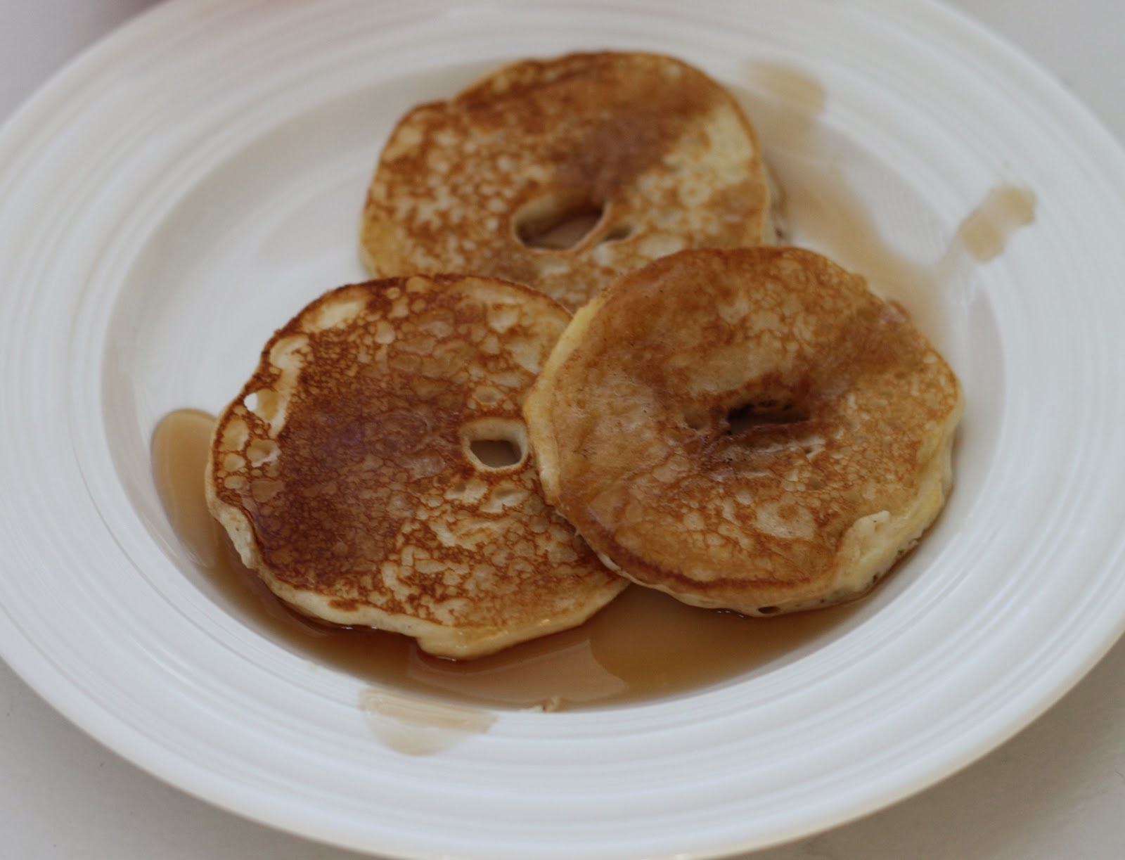 Add some syrup and you have some yummy apple pancakes for breakfast.