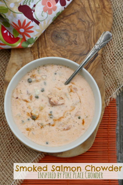 Smoked Salmon Chowder inspired by Pike Place Chowder in Seattle #soup ...