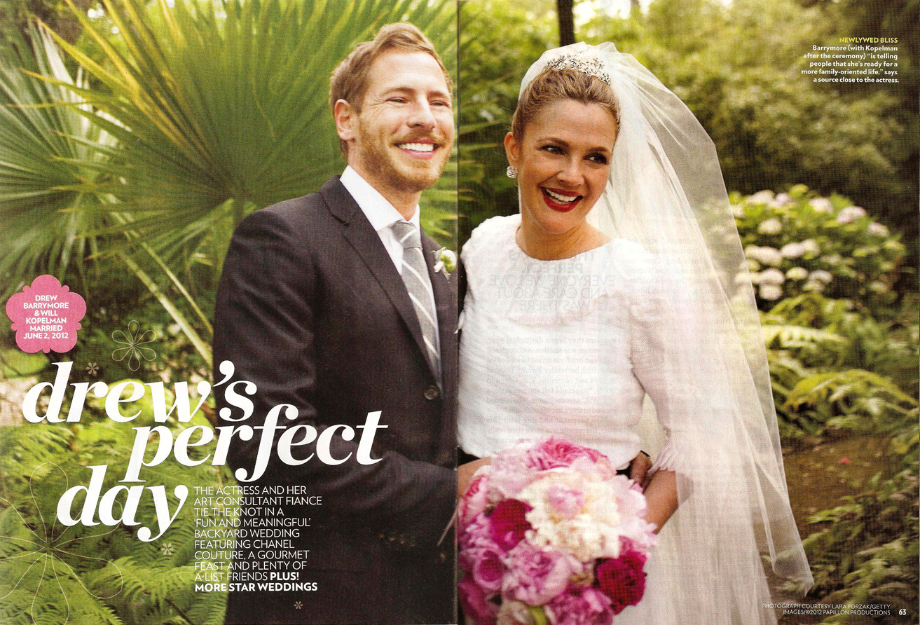 What Mimi Writes: Wedding: Drew Barrymore and Will Kopelman