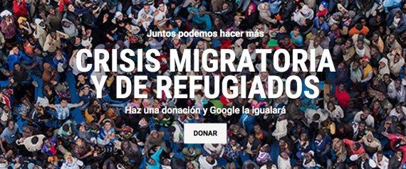 Google: Campaña de Ayuda a refugiados
