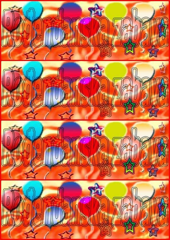 pozivnice za rođendan Mala Sirena,zadnja strana format A4
