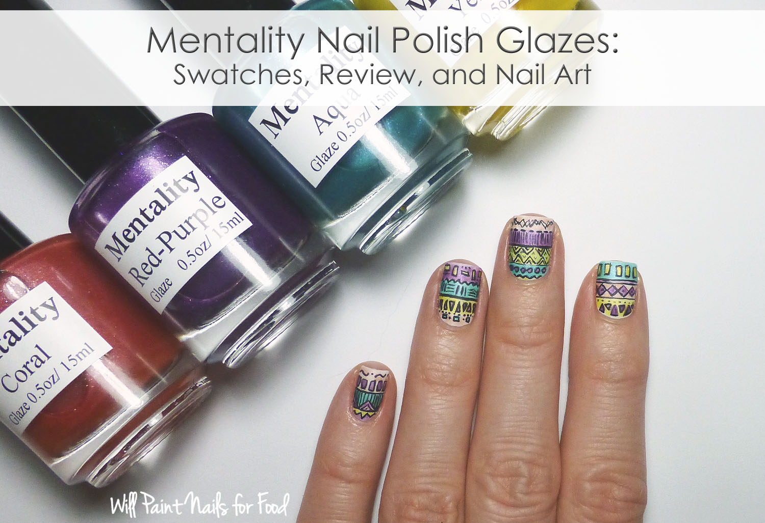 Mentality Nail Polish Glazes: Swatches, Review and Nail Art