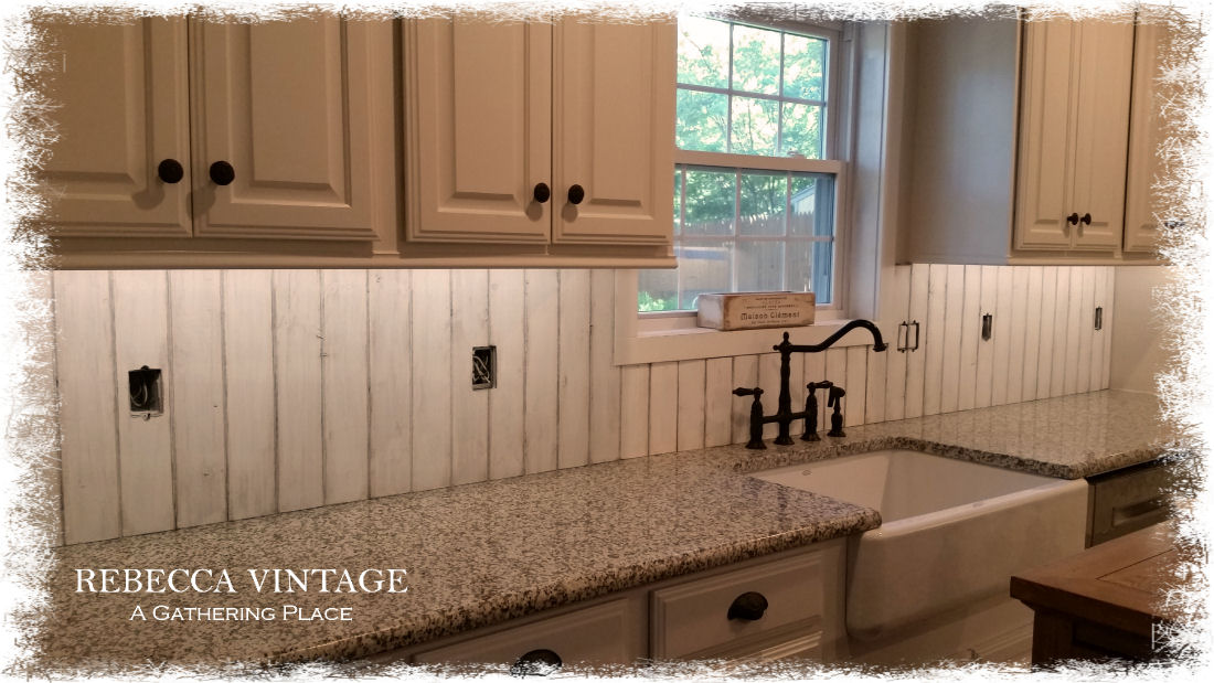 OUR $35 FRENCH FARMHOUSE BACK SPLASH~
