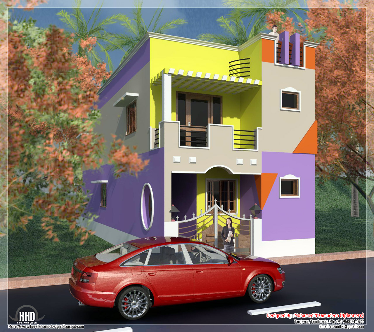1197 minimalist tamilnadu house design for House plans for 1200 sq ft in tamilnadu
