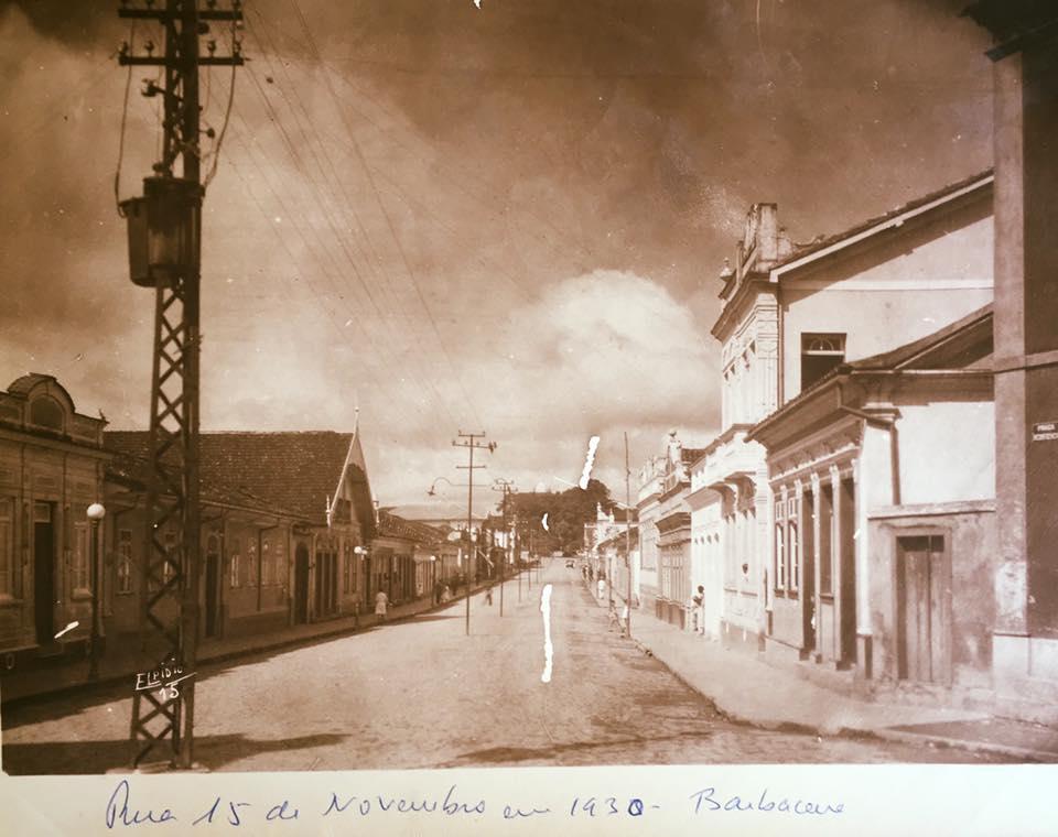 Rua XV de Novembro de Barbacena MG 1932
