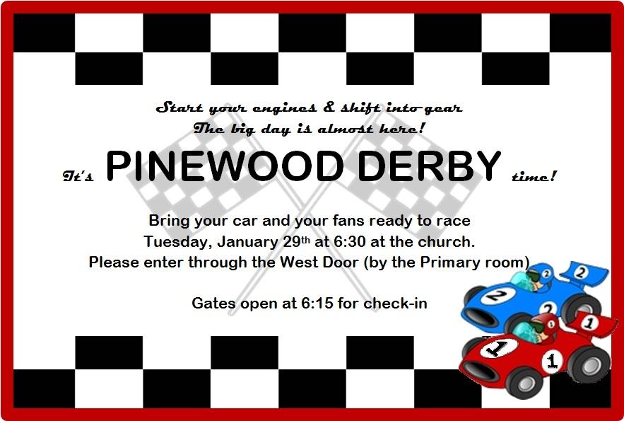 Pinewood Derby Invitations are Elegant Ideas To Create Luxury Invitation Ideas