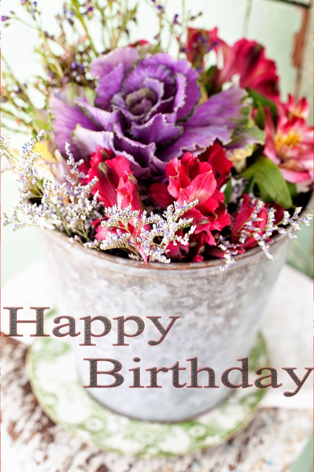 Birthday Wishes Images With Cake And Flowers : Happy birthday cake and flowers images ~ Greetings Wishes ...