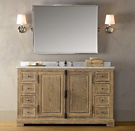 restoration hardware 39 s french casement extra wide single vanity sink