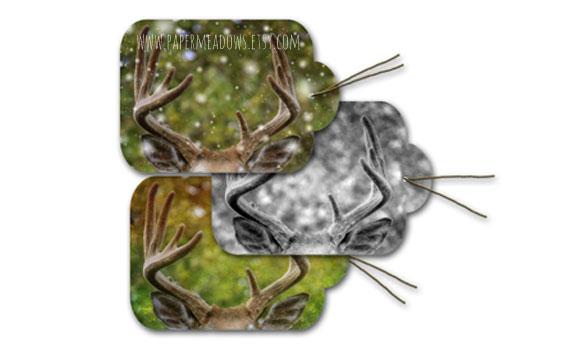 Deer antler printable gift tags. You can purchase and download our photography creations and instantly print at home from our Paper Meadows Photography Shop on ETSY. To Visit our shop now click here.