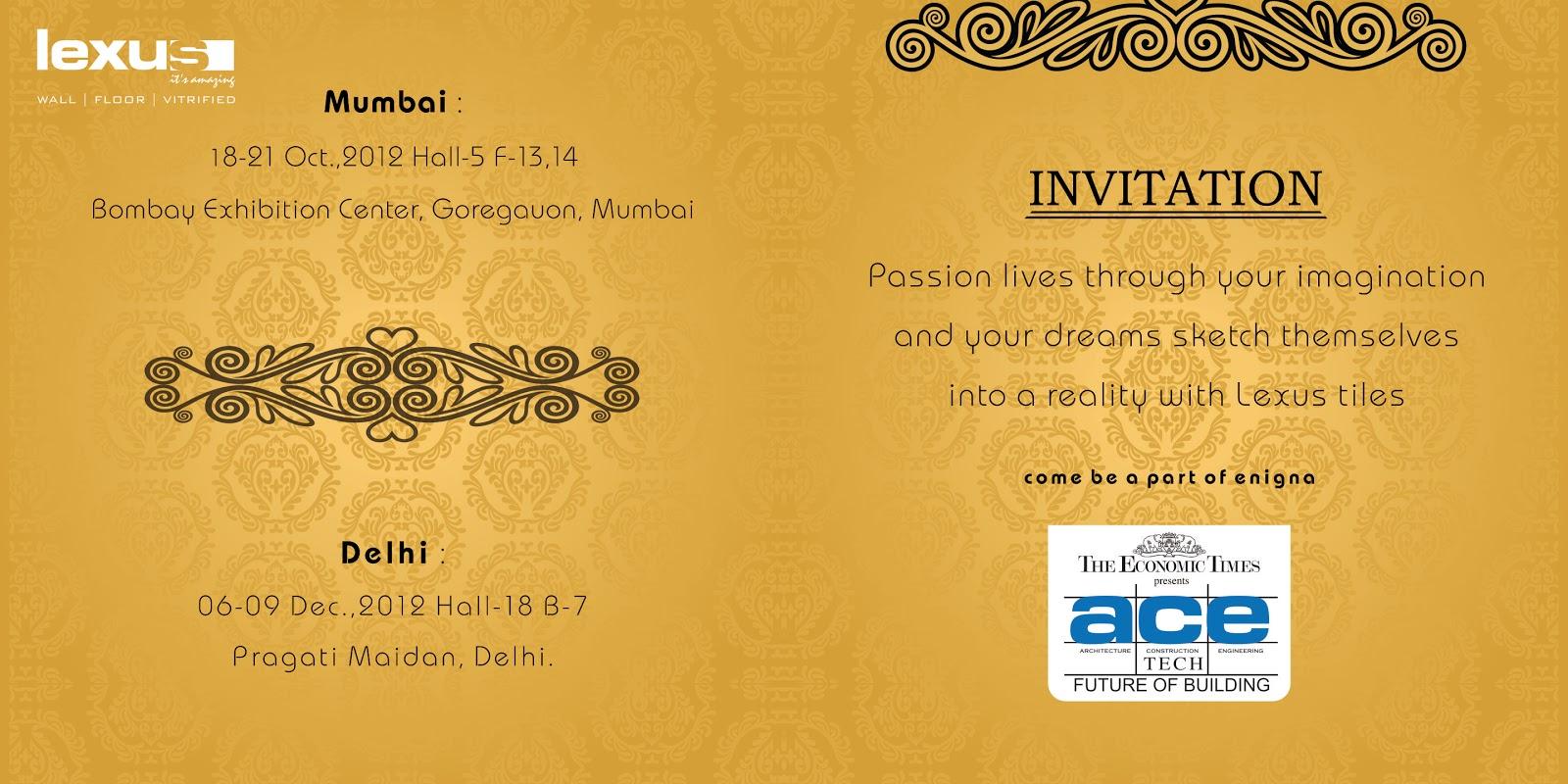 Branding the need of every company acetech 2012 mumbai invitation stall design 3d stopboris Choice Image