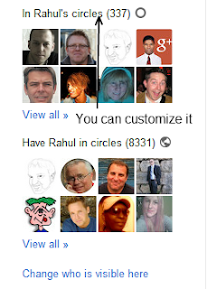 Manage how others can see your circle on Google+