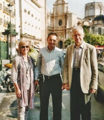 Josep Alió y el GM Yuri Aberbaj en 2009 en Valencia