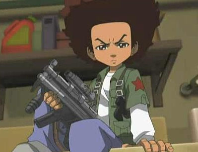 Labels  Boondocks   Boondocks Characters   Huey Freeman   Huey Freeman    The Boondocks Huey With Gun