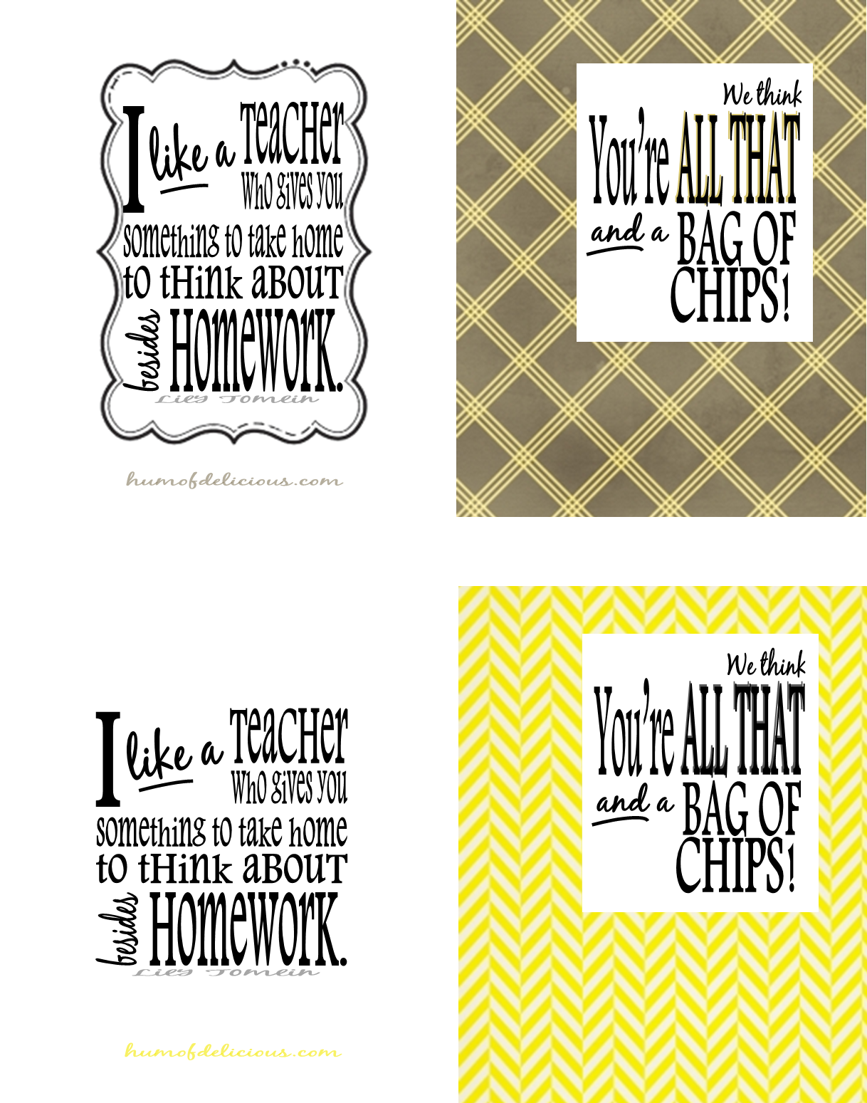 image relating to You're All That and a Bag of Chips Printable identified as humofdelicious printables: All That and a Bag of Chips