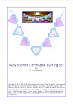 It's Raining Babies Bunting Set Decoration
