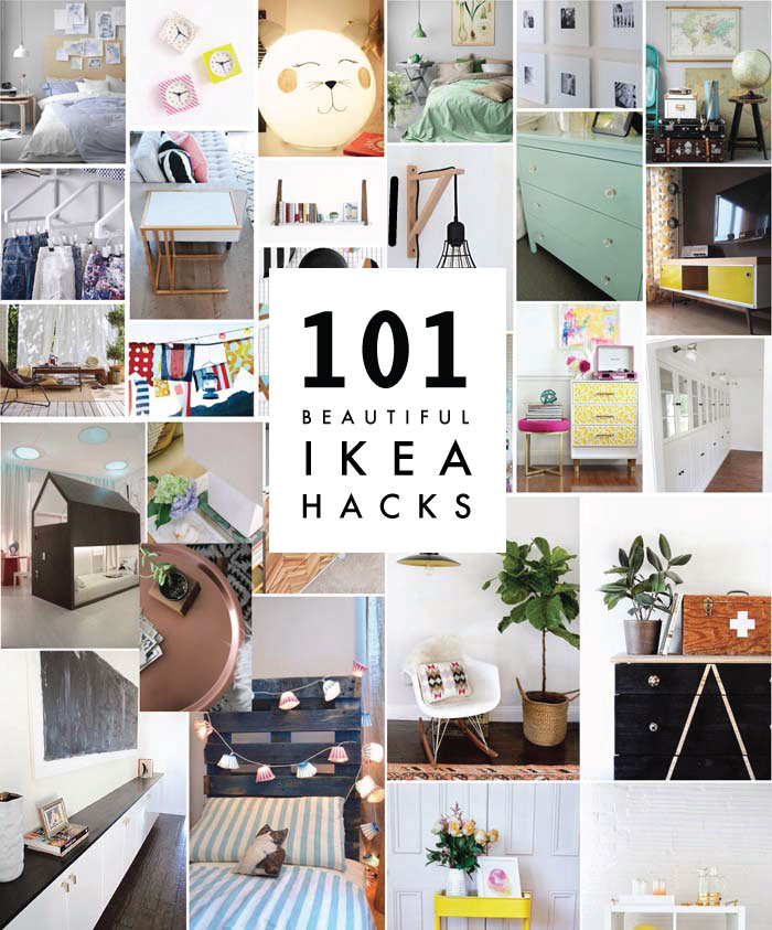diy 101 ikea hacks poppytalk. Black Bedroom Furniture Sets. Home Design Ideas