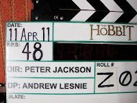 Claqueta del rodaje de la película El Hobbit de Peter Jackson