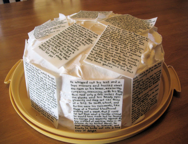 Classic Book Pages Cake 1